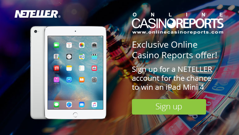 Vind en iPad Mini 4 med NETELLER og Online Casino Reports