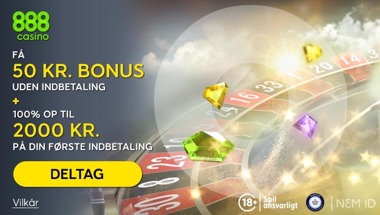 888 Casino Danmark 2,050kr velkomsttilbud