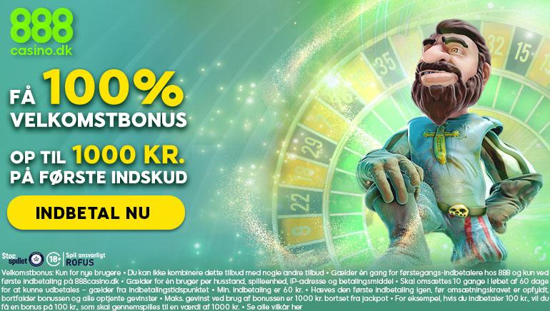 888 Casino Danmarks nye 1000 kr velkomsttilbud