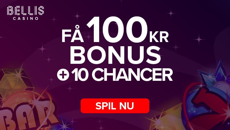 100 KR Bonus og 10 Gratis Spins på Bellis Casino for danske spillere