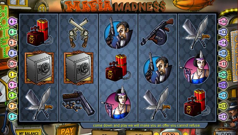 Mafia Madness slot - spil gratis 888 spil online